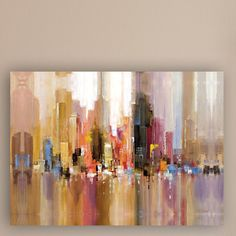 """Found it at Wayfair - """"City Spree"""" Painting Print on Wrapped Canvas"""
