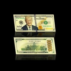 WR American President Donald Trump 999 Colorful Gold Banknote Golden Banknote Business Promotion Gift Home Decor * Check this useful article by going to the link at the image. Donald And Melania Trump, Donald Trump, 1 Million Dollars, First Lady Melania, In God We Trust, Banknote, Presidents, Money, American