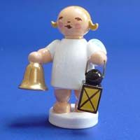 Wendt and Kühn Christmas Angel with Lantern and Bell.  Available at www.mygrowingtraditions.com