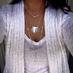 Stella and Dot layering necklaces.