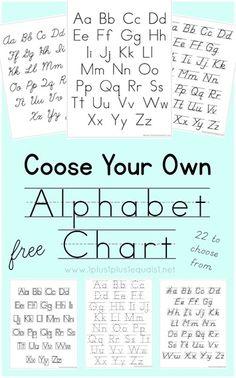 Choose Your Own Alphabet Chart Printable 5d06500405