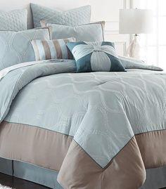 8 Piece Microfiber Comforter Set Tropez