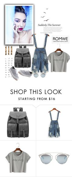 """Romwe 10/IV"" by nermina-okanovic ❤ liked on Polyvore featuring Envi, Christian Dior, Vans and romwe"