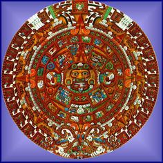Click and learn about the parts of the Aztec Sun Stone - clay sun stone project
