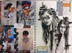 Sketchbook a level art sketchbook layout, gcse art sketchbook, artist research page, sketchbook A Level Art Sketchbook Layout, Gcse Art Sketchbook, A-level Kunst, Arte Gcse, Art Sketches, Art Drawings, Art Alevel, Photography Sketchbook, 3d Figures