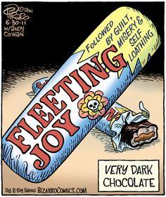 Extremely dark chocolate...