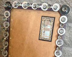 Handmade 8x10 picture frame upcycled hardware