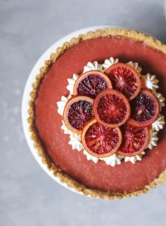 Blood Oranges are in season, and this tart is a must every winter! Blood oranges and hibiscus go really well together, the sour/sweet fruit with the sweet/floral dried hibiscus is a great combinati…