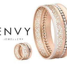 What a stunner! #bangle $160 and matching #ring $80 #stainlesssteel #iprosegold… Fine Jewelry, Jewelry Making, Jewellery, Bangles, Bracelets, Black Onyx, Rose Quartz, Jasper, Envy