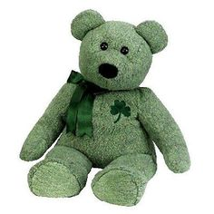 Retired 19207: Ty Beanie Buddy - Shamrock Large The Bear By Beanie Buddies -> BUY IT NOW ONLY: $143.79 on eBay!