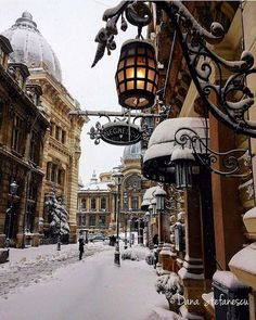 Snowy delight. Bucharest, Romania. Photo by @dana.ms #aroundtheworldpix