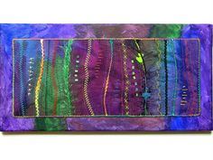 Thread Art Quilted Wall Hanging Textile by thebutterflyquilter, $75.00
