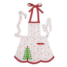 Happy Christmas Tree Apron