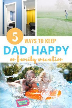 All a good dad really wants is to keep his family happy. But what about dear ol' dad? Whether you're planning a special trip for Father's Day, or for another time of the year, here are five travel tips that are sure to make dad happy on vacation! #dads #familyvacation #travelwithkids #fathersday Traveling With Baby, Travel With Kids, Family Travel, Traveling By Yourself, Family Vacation Destinations, Vacation Trips, Family Vacations, Travel Toys, Travel Activities