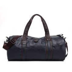 a0d409fda175 2018 A++ Quality Men Classic Soft Leather Fitness Gym Bag Black Brown  Cylindrical Sports Bag Designer Single Shoulder Travel Bag