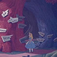 Image result for Picture of Disney's Alice in Wonderland at the sign post