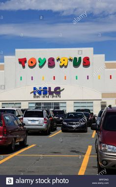 Download this stock image: entrance of TOYS R US and NSLC liquor store, Halifax, Atlantic Canada, North America. Photo by Willy Matheisl - BRFDNG from Alamy's library of millions of high resolution stock photos, illustrations and vectors.