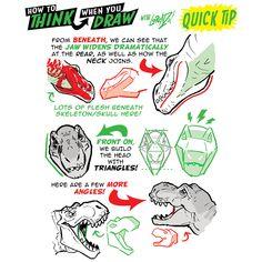 Nose Drawing, Dinosaur Drawing, Dinosaur Art, Drawing Tips, Drawing Reference, Animal Sketches, Animal Drawings, Drawing Animals, Dinosaur Sketch