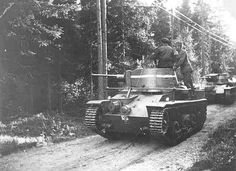 Landsverk L- 10 on the Swedish army exercises beginning of the 1930s .