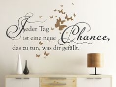 Wall decal A new chance to do that . My Bubbles, Motivation, Hand Lettering, Wall Decals, Blog, Home Decor, Bullet Journal, Watercolor Painting, Flower Wall Decals