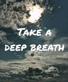 Innehalten , atmen , akzeptieren ...