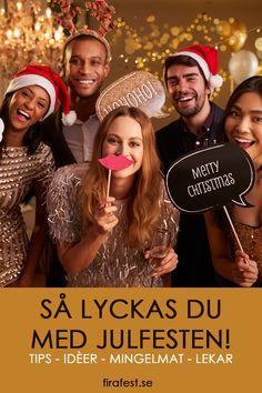 Tips, idéer, mingelmat, lekar och allt annat du behöver för att lyckas med julfesten!  #julfest #jullekar #festlekar