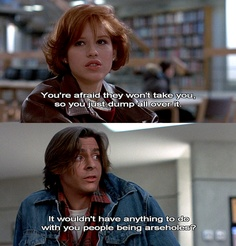 """Breakfast Club Quotes Magnificent I Don't Knowgive It A Try."""" Best Line In The Whole Movie ."""