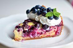 Yammie's Noshery: White Chocolate Blueberry Cheesecake