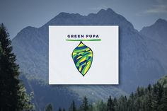 Green Pupa - Logo Design by Congruent Graphics on @creativemarket  logo,logotype,abstract,pupa, butterfly,green,geometric,animals, insect,insects,brand,colorful,vector, 2016 logo,fly