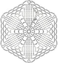 Képtalálat a következőre: How to Read pineapple Crochet Chart Patterns Crochet Symbols, Crochet Doily Patterns, Crochet Blocks, Crochet Diagram, Crochet Chart, Crochet Squares, Thread Crochet, Crochet Granny, Filet Crochet