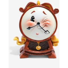 The World Of Miss Mindy Disney Beauty And The Beast Cogsworth Statue ($27) ❤ liked on Polyvore featuring home, home decor, comic statue, colorful home decor, inspirational home decor, comic book statues and disney home decor