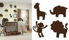 animal silhouette wall paint - Google Search