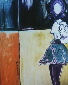 Original Fashion Painting by Leni Smoragdova Painting Collage, Oil Painting On Canvas, Canvas Art, Original Artwork, Original Paintings, Fashion Painting, London Art, Abstract Expressionism Art, Art Fair