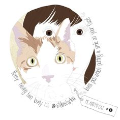 illustration project, me & my cat     memories.warehouse.shop@gmail.com  http://www.etsy.com/shop/memorieswarehouse