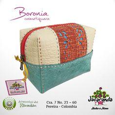 BORONIA: cosmetiquera Jacaranda, en cuero, hecha a mano. #makeupbag