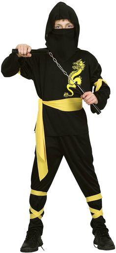 MET ACCESSOIRES Ninja pak voor jongens Carnavalpak : Kinder Kostuums, en goedkope carnavalskleding - Vegaoo