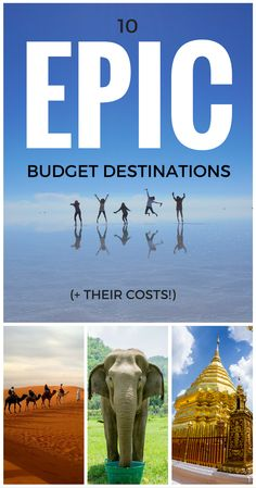 10 Epic Budget Destinations for 2016 (& Their Costs). #budgettraveldestinations