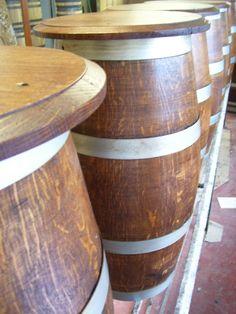Sgabelli da botti in legno