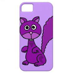 Funny Purple Squirrel Cartoon iPhone 5 Case #purple #squirrel #funny #iphone5 #case #recruiters #jobs #humor #art #animals