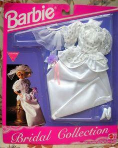 1992 Barbie Bridal Collection 867 Ivory Bow Wedding Dress Veil Purse for sale online Barbie Bridal, Barbie Wedding Dress, Wedding Dress With Veil, Barbie Dress, Barbie Outfits, Wedding Gowns, Vintage Barbie Clothes, Doll Clothes, Barbie 90s