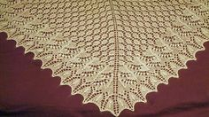 I had leftover yarn from my Frozen Leaves shawl, and decided to see how quickly I can finish a lace shawl if I promise myself I won't rip and correct anything. Animal Print Rug, Knits, Ravelry, Shawl, Knitting, Tricot, Breien, Stricken, Knit Stitches
