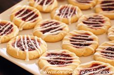 SOOO GOOOD!! Raspberry Jam Rounds With Lemon Icing ~ Love This Cookie! - Or so she says...