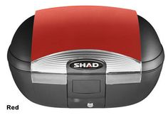 """Shad SH-45 motorcycle top case in garnet. Designed to attach to most flat luggage racks. Its dimensions are: 16.1"""" L x 22.2"""" W x 12.3"""" H and has a 45 liter capacity. Your price is $244.95. With Free Shipping."""