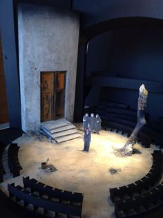 Theatre, Opera and other. **************************************model for ELECTRA, designed by Mark Thompson, Old Vic Theatre London Set Design Theatre, Stage Design, Cool Lighting, Lighting Design, Scenography Theatre, Romeo Y Julieta, Theatre Stage, Principles Of Design, Stage Set