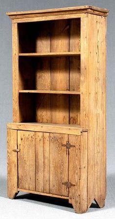 Pine step back cupboard,