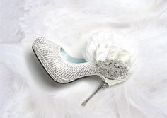 Handmade covered feather  and  paillette wedding by Yanger218, $100.00