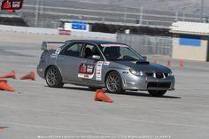 Michael Vida's 2006 Subaru STi on the @detroitspeedinc  #autocross at the 2015 #OUSCI Learn more at www.optimainvitational.com
