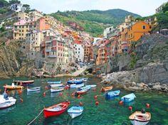 Village of Riomaggiore in the Cinque Terre