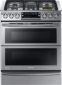 NY58J9850WS | Samsung Chef Collection Dual Fuel Range w/Door-In-Door - Stainless Steel