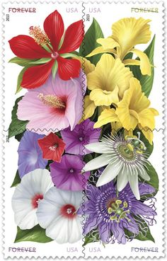 USPS Celebrates La Florida's 500th anniversary with four floral forever stamps